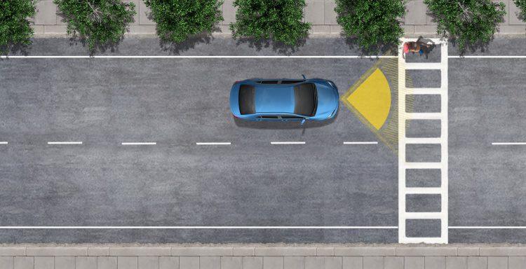 سیستم پیش برخورد با تشخیص عابر پیاده با استفاده از دوربین و رادار وسیله نقلیه برای تشخیص یک وسیله نقلیه یا عابر پیاده در مقابل شما، سیستم پیش ساز برخورد (PCS) با شناسایی پیاده روی (PCS w / PD) می تواند به کاهش یا جلوگیری از برخورد بالقوه کمک کند.