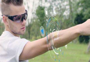 حسگر پوستی, واقعیت مجازی, عینک واقعیت مجازی