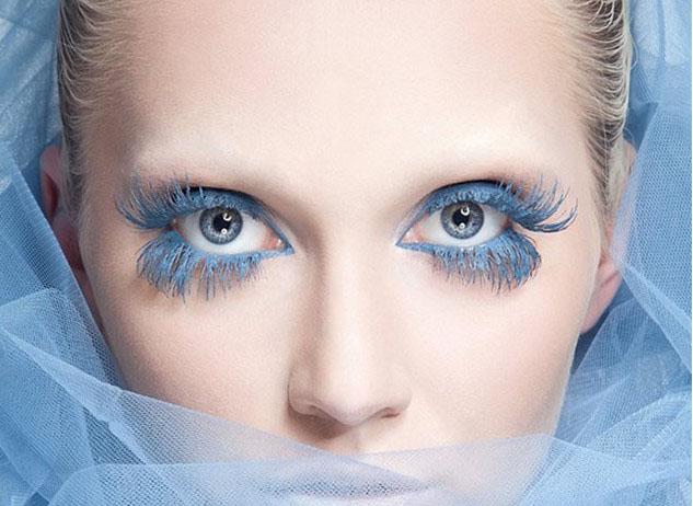 ریمل رنگی آبی کمرنگ