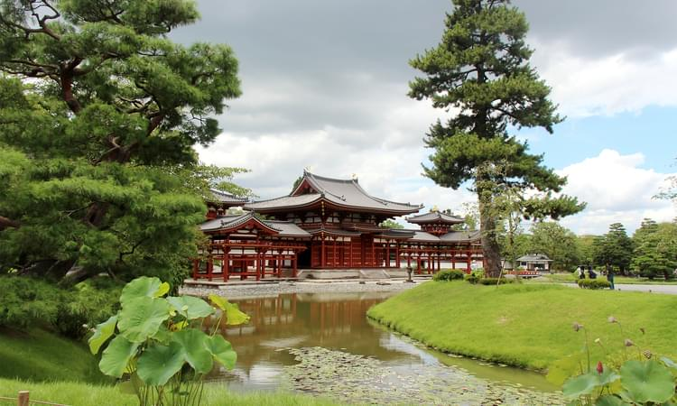 نمای معماری ژاپنی از دور