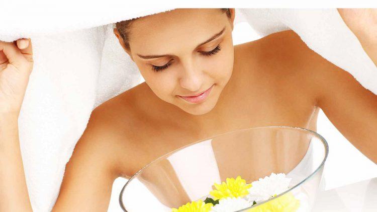 درمان جوش صورت با بخور
