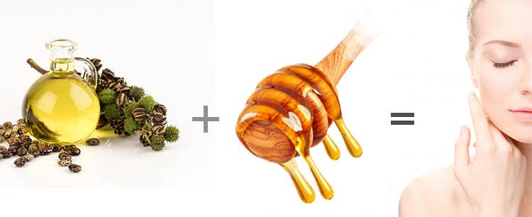 ماسک عسل و روغن کرچک