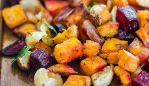 سرخ کردن سبزیجات